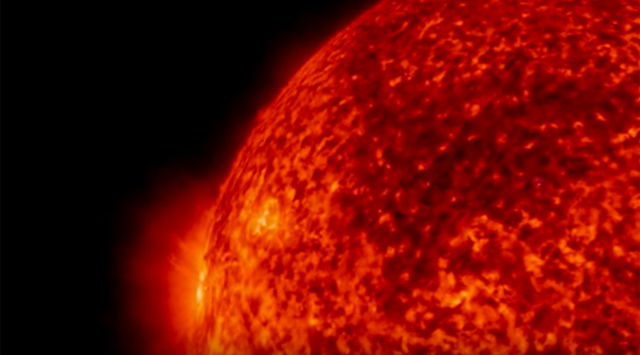 Solar burst: Spectacular NASA footage captures sun's 'magnetic dance' (VIDEO)
