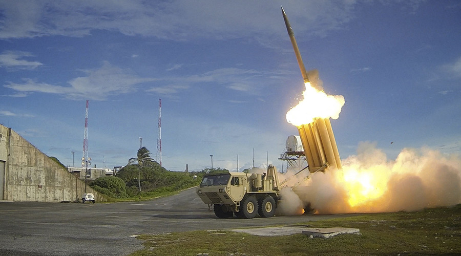 A Terminal High Altitude Area Defense (THAAD) interceptor is launched during a successful intercept test © U.S. Department of Defense, Missile Defense Agency