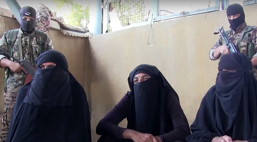 ISIS fighters captured while fleeing besieged town dressed as women (VIDEO)