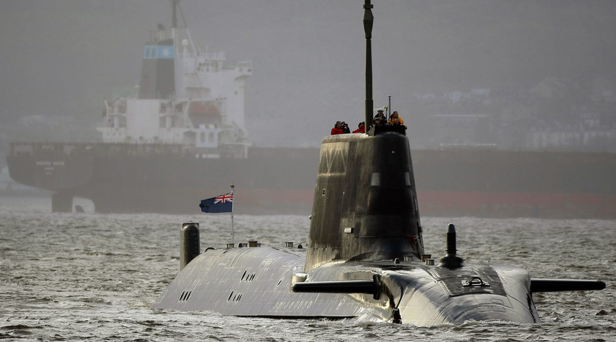 HMS Astute, the first of the biggest ever hunter-killer submarines to be ordered by Britain's Royal Navy. © David Moir