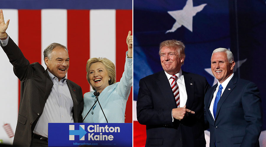 Image result for tim kaine and mike pence