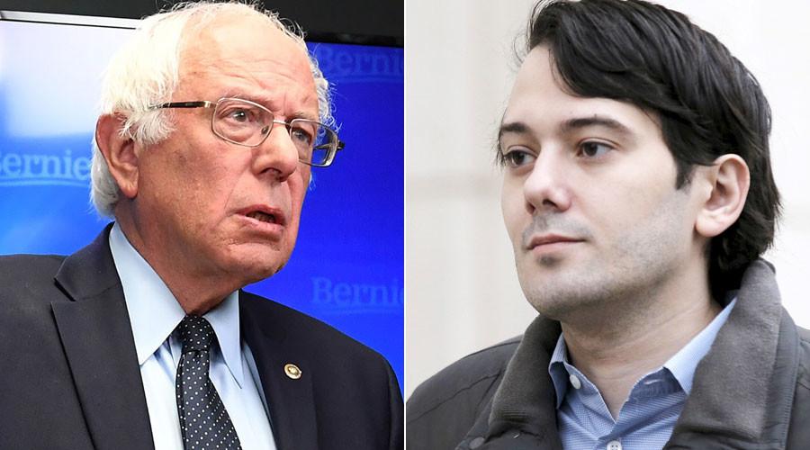 Bernie Sanders, Martin Shkreli © Brendan McDermid, Matt McClain
