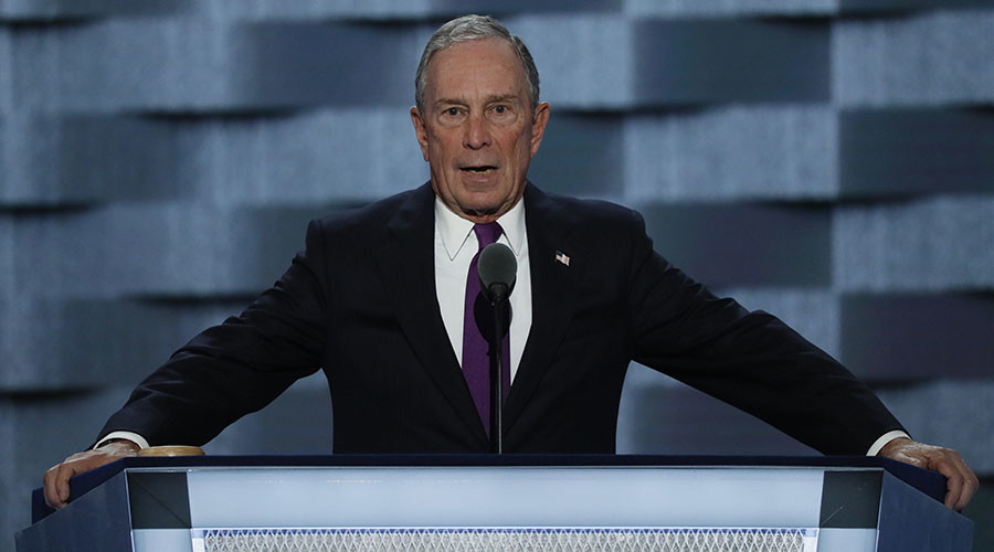 Former New York City Mayor Michael Bloomberg speaks on the third day of the Democratic National Convention in Philadelphia, Pennsylvania, U.S. July 27, 2016. © Mike Segar