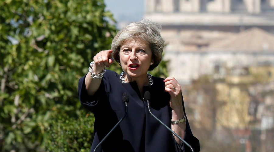 British Prime Minister Theresa May. © Remo Casilli