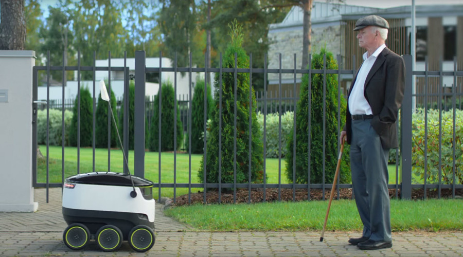 Self-driving delivery robot makes first visit to United States