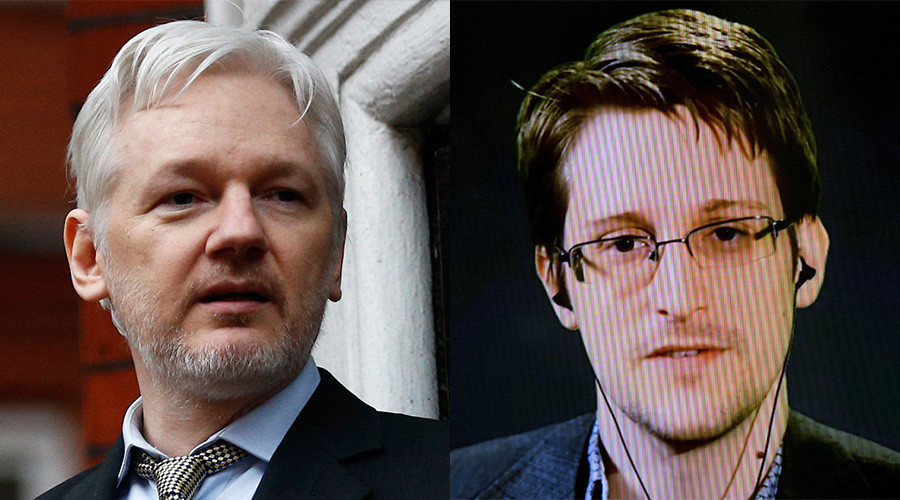 WikiLeaks founder Julian Assange and American whistleblower Edward Snowden © Reuters