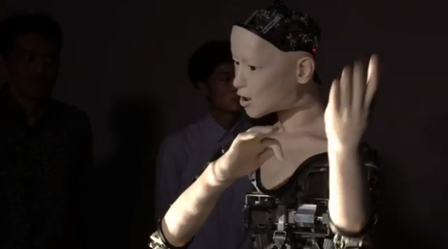 New level of eerie: Unique Japanese robot's facial expressions mimic humans (VIDEO)