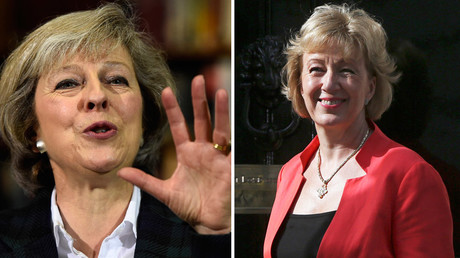 Britain's Home Secretary, Theresa May, Andrea Leadsom © Neil Hall, Dylan Martinez