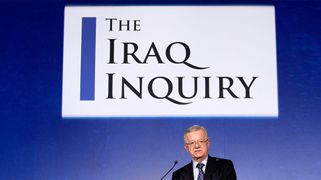 John Chilcot, the chairman of the Iraq Inquiry, speaks during a news conference in London July 30, 2009. ©Matt Dunham