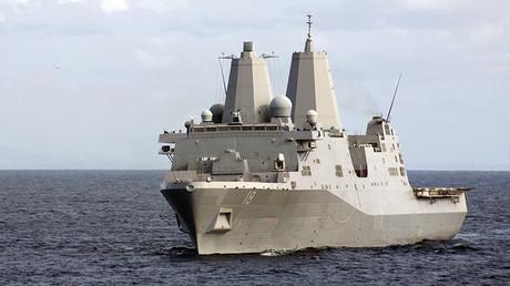 An amphibious vessel, the USS New Orleans. ©J.G. Jared Apollo Burgamy / U.S. Navy