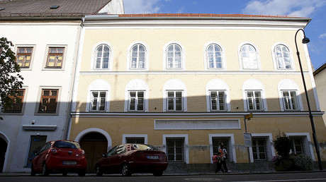 The house in which Adolf Hitler was born in Braunau am Inn, Austria. © Dominic Ebenbichler