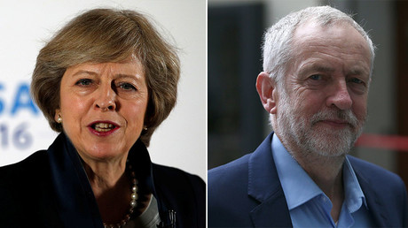 Theresa May and Jeremy Corbin. © Reuters