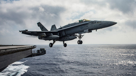 A U.S. Navy F/A-18E Super Hornet launches from the flight deck of the aircraft carrier USS Dwight D. Eisenhower (CVN 69) in the Mediterranean Sea June 28, 2016. © U.S. Navy