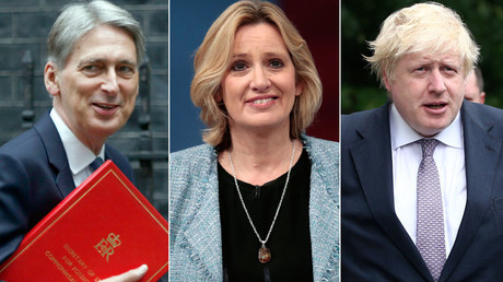 Philip Hammond, Amber Rudd, Boris Johnson © Peter Nicholls, Suzanne Plunkett, Neil Hall
