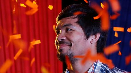 Filipino boxer Manny Pacquiao © Erik De Castro