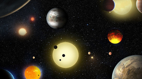 This artist's concept depicts select planetary discoveries made to date by NASA's Kepler space telescope. © W. Stenzel / NASA