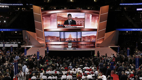 Speaker of the U.S. House of Representatives Paul Ryan (R-WI) speaks at the Republican National Convention in Cleveland, Ohio, U.S. July 19, 2016. © Mike Segar