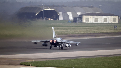 A British Royal Air Force (RAF) Tornado GR4 aircraft takes off from RAF Marham in eastern England © Darren Staples
