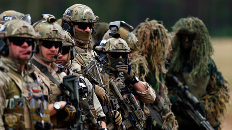 FILE PHOTO Members of Poland's special commando unit Lubliniec participate in the
