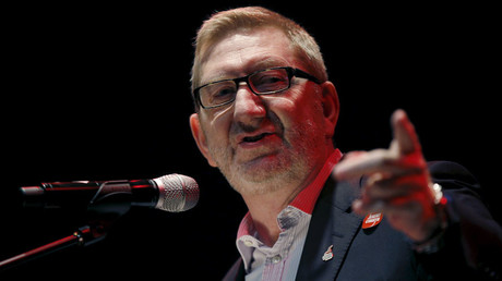 British trade union leader Len McCluskey © Peter Nicholls