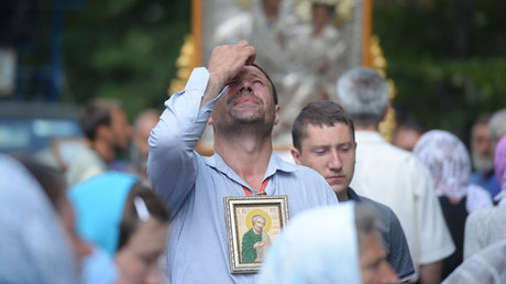 Participants in the All-Ukrainian Orthodox Cross Procession for Peace, Love and Prayer for Ukraine. © Alexey Vovk