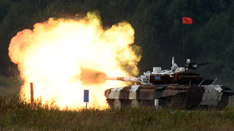 Tank biathlon! Watch countries go head-to-head in booming new discipline (DRONE VIDEO)