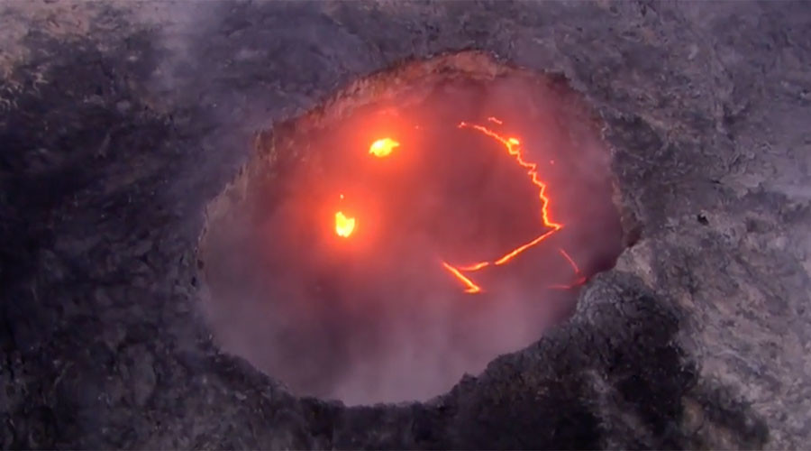 Smile! Volcanic eruption forms emoji-like face on Hawaii's Big Island