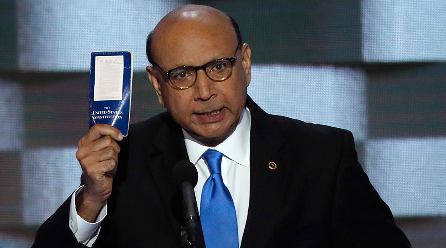 Gold Star Muslim father Khan deleted law firm website after criticizing Trump – report