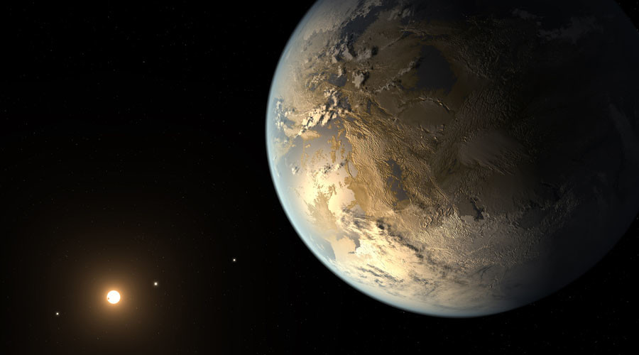 Kepler-186f is seen in a NASA artist's concept. © JPL-Caltech / NASA