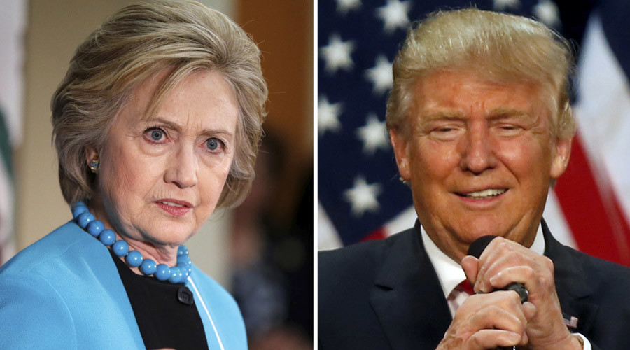 A combination photo shows U.S. Democratic presidential candidate Hillary Clinton (L) and Republican U.S. presidential candidate Donald Trump (R) © Lucy Nicholson (L) and Jim Urquhart
