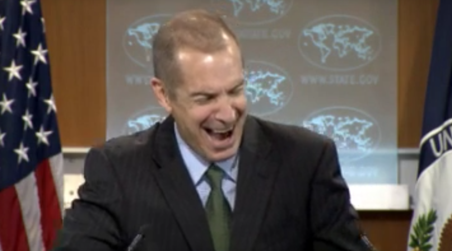 Transparency? Ha! US State Dept spokesman laughs hysterically at press briefing (VIDEO)