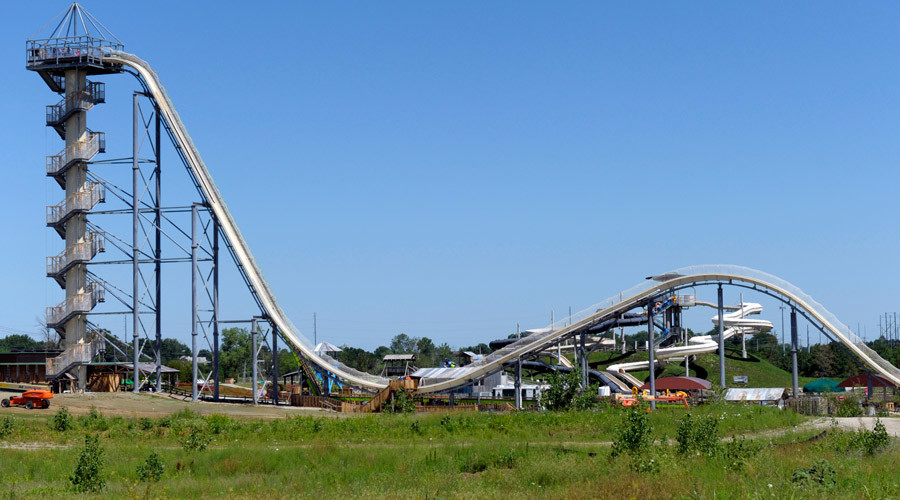 10-yo boy dies on world's tallest waterslide in Kansas waterpark