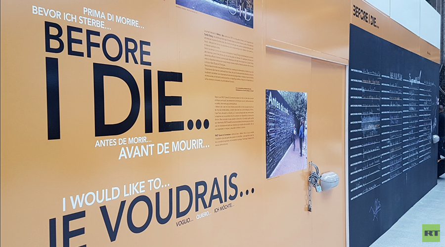 'We inevitably think of terrorist attacks': French react to 'Before I Die' wall at Paris station