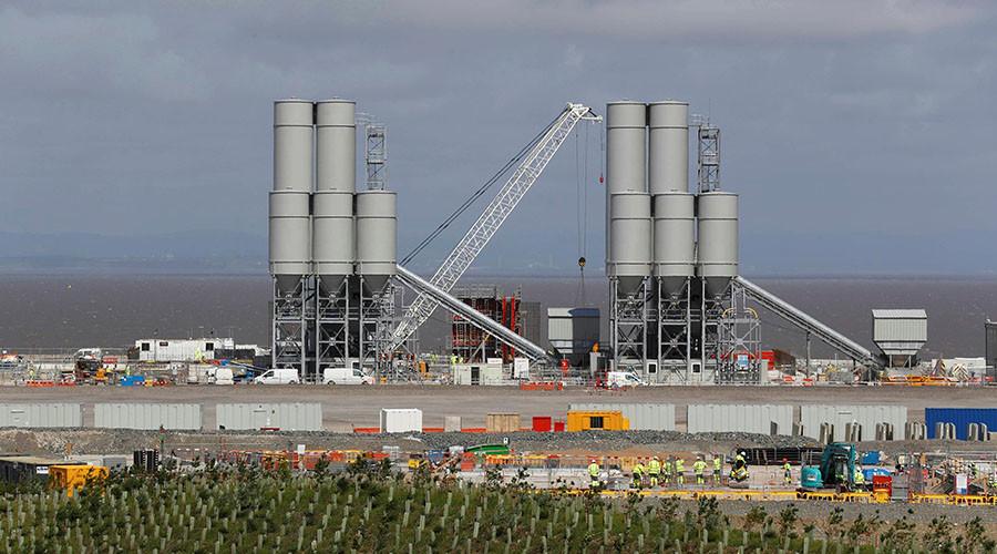 Hinkley Point C nuclear power station site near Bridgwater in Britain. ©Darren Staples