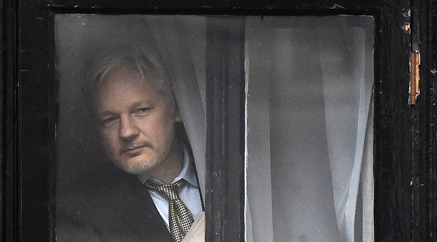 Assange has been in the Ecuadorian embassy in London for over four years. ©Toby Melville