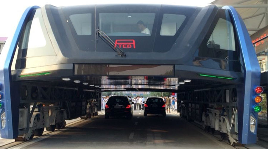 Turns out that futuristic elevated bus is a scam, according to Chinese media