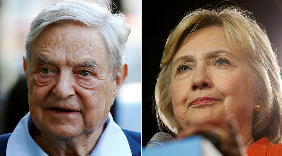Billionaire George Soros and US Democratic presidential nominee Hillary Clinton. © Reuters
