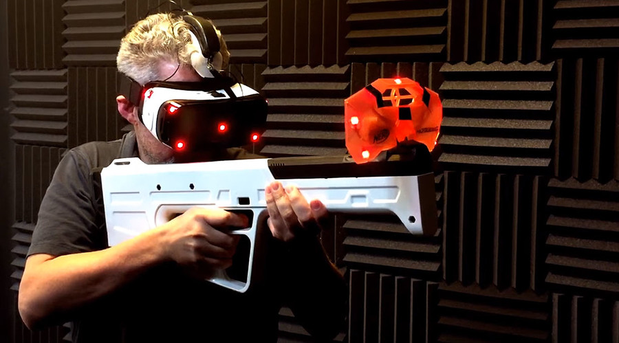 Virtual reality gun comes with real-life recoil