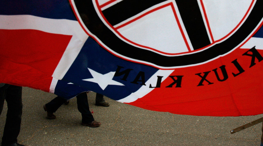 Black teacher given KKK robe, Confederate flag at conference