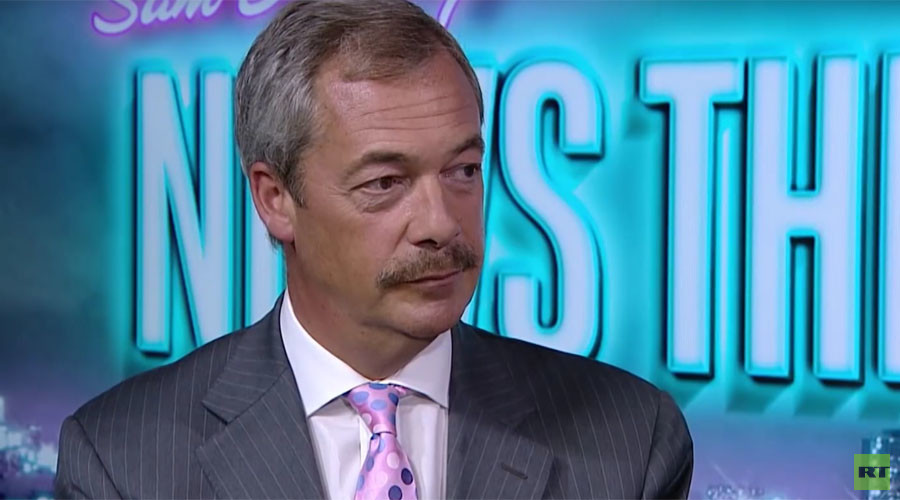 Nigel Farage debuts new mustache on RT, internet loses it