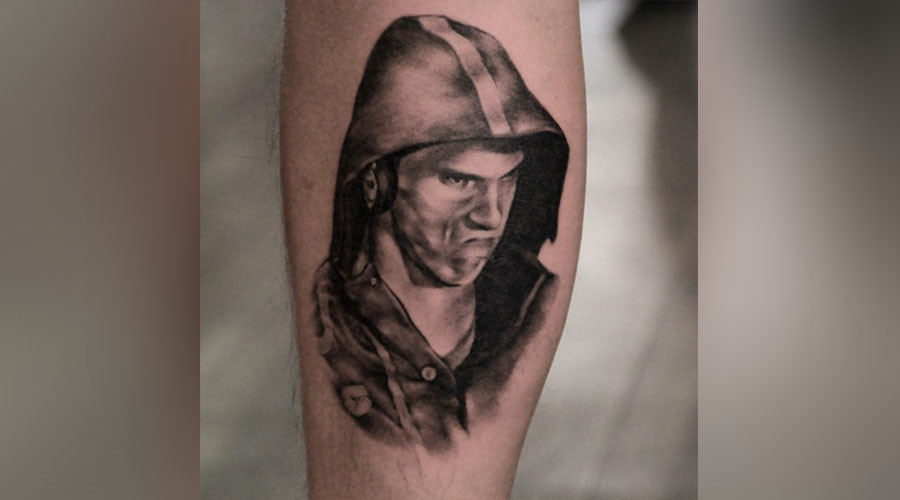 Canadian fan gets Michael Phelps 'death stare face' tattoo