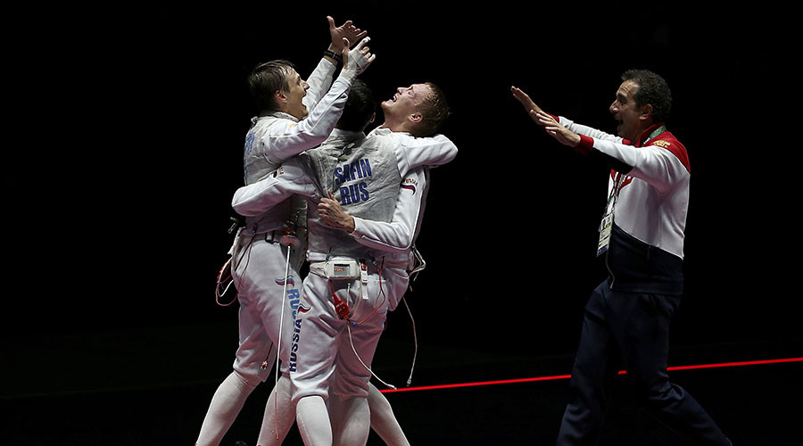 Russian men's foil fencing team beats France to win Rio gold