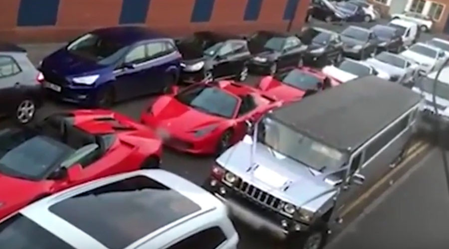 One-million-dollar jam: Lamborghinis bring traffic to a standstill in Birmingham