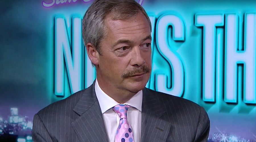 Nigel's new 'tache: The internet's reaction to Farage's facial feature, in 5 gifs (VIDEO)