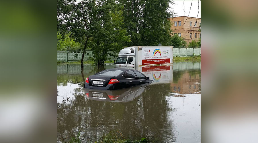 Flash floods in Moscow after month's worth of rain falls in 1 day (PHOTOS, VIDEO)