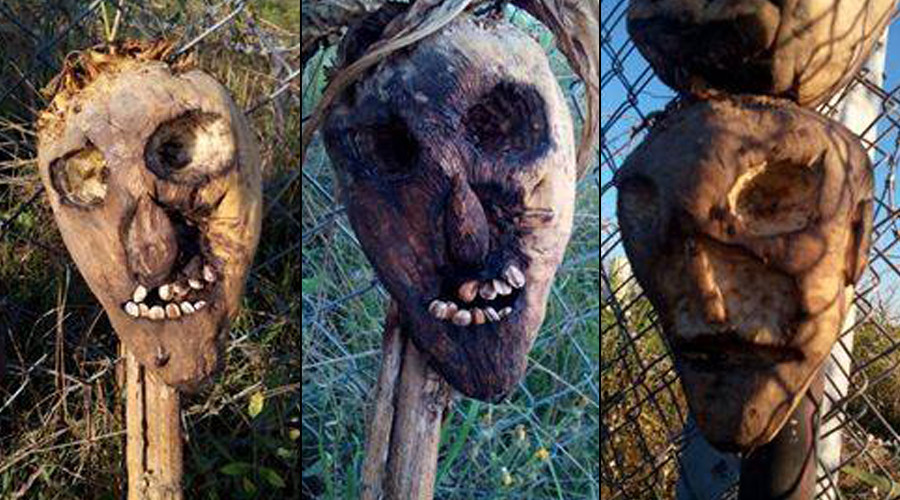 Creepy scarecrows keep migrants away from Hungarian border? (PHOTOS)