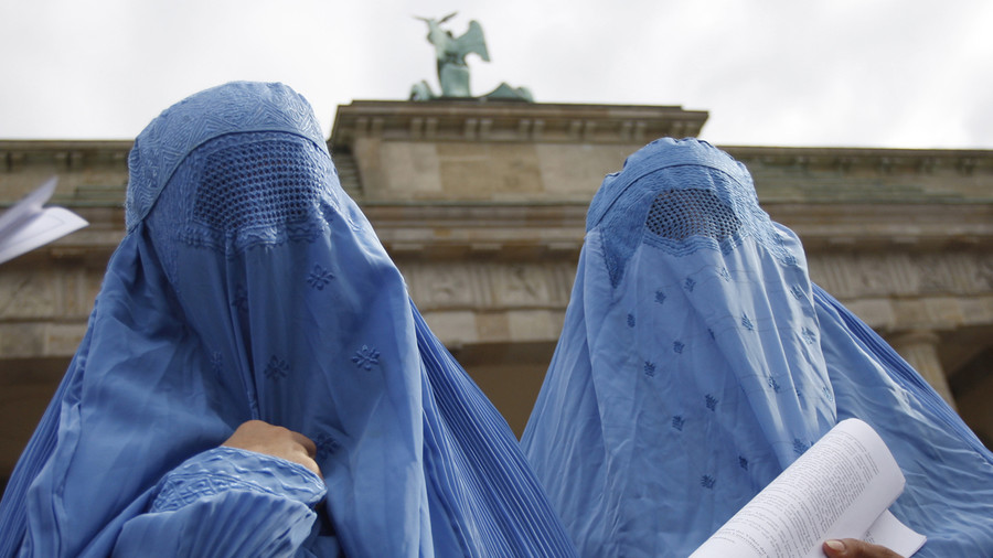 Merkel's party calls for full-face Muslim veil ban as 'burqa contrary to integration'