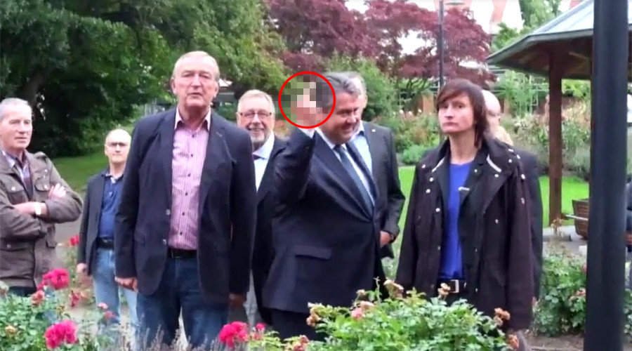 F*ck yourself: German vice-chancellor 'flips bird' to right-wing youths who call him traitor