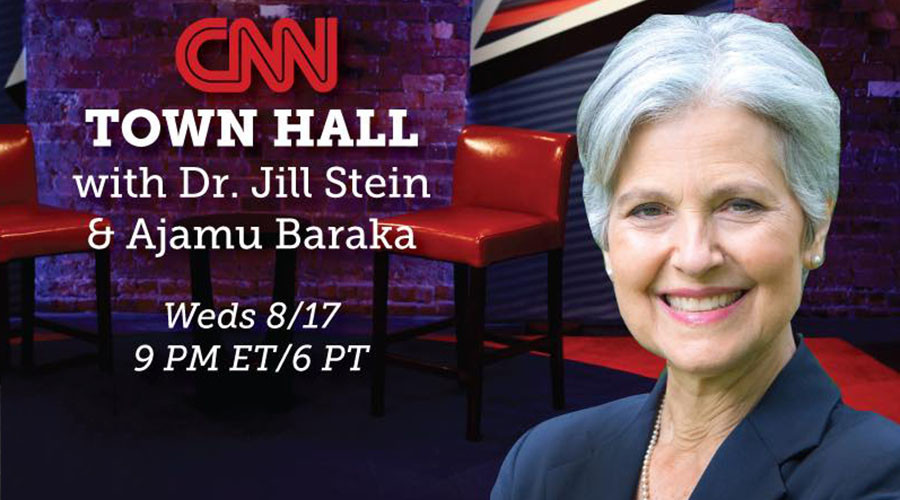 Green Party's Jill Stein and Ajamu Baraka hold historic CNN town hall