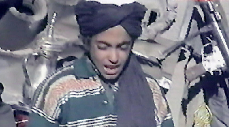 Hamza, the youngest son of Osama bin Laden. © AFP / AL-JAZEERA